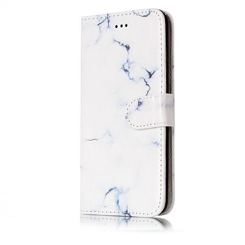 Кейс для Назначение Huawei P9 Lite Huawei Huawei P8 Lite Бумажник для карт Кошелек со стендом Флип Чехол Мрамор Твердый Кожа PU для P10 huawei p8 lite