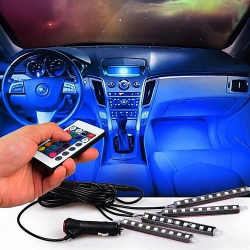 1 комплект Светодиодные гаджеты LED Night Light Автомобильные зарядные устройства Пульт управления Маленький размер Меняет цвета