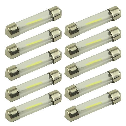 10 шт. 36mm Автомобиль Лампы 1 W COB 100 lm 1 Светодиодная лампа Внутреннее освещение For Универсальный Все года цена