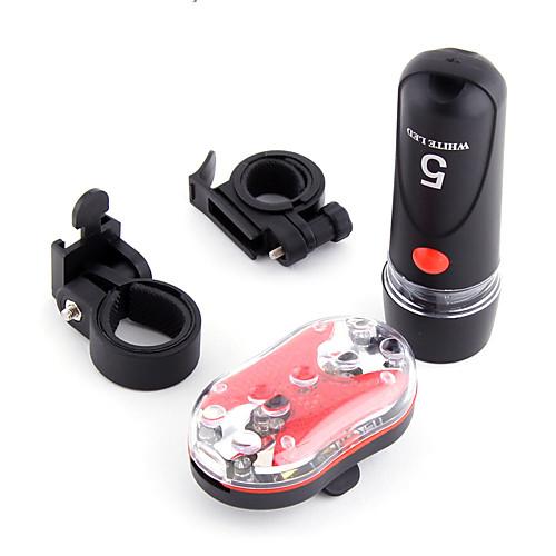 Передняя фара для велосипеда / Задняя подсветка на велосипед / Набор аккумуляторных ламп для велосипеда Велоспорт Клемма Батарея На открытом воздухе