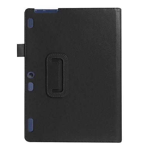 Кейс для Назначение Lenovo Чехол / планшетный случаи Однотонный Твердый Кожа PU для
