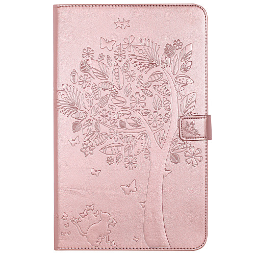 Case For Samsung Galaxy / Tab A 8.0 / Tab A 9.7 Wallet / Card Holder / with Stand Full Body Cases Cat / Butterfly / Tree Hard PU Leather for Tab E 9.6 / Tab A 7.0 / Tab A 10.1 (2016)
