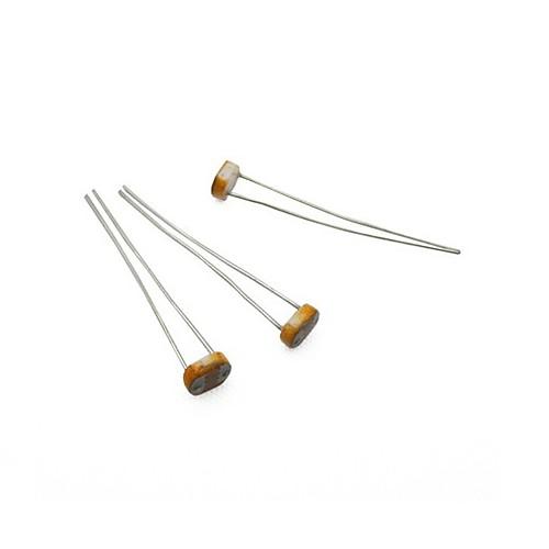 фоторезистор 5516/5 мм Фотоэлектрический датчик - серебро  кофе (10 шт)