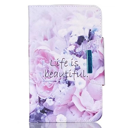 Case For Samsung Galaxy / Tab A 9.7 Wallet / Card Holder / with Stand Full Body Cases Flower Hard PU Leather for Tab 4 10.1 / Tab 4 8.0 / Tab 4 7.0