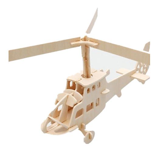 3D пазлы Пазлы Деревянные игрушки Летательный аппарат Знаменитое здание Вертолет Своими руками Дерево Классика Детские Универсальные