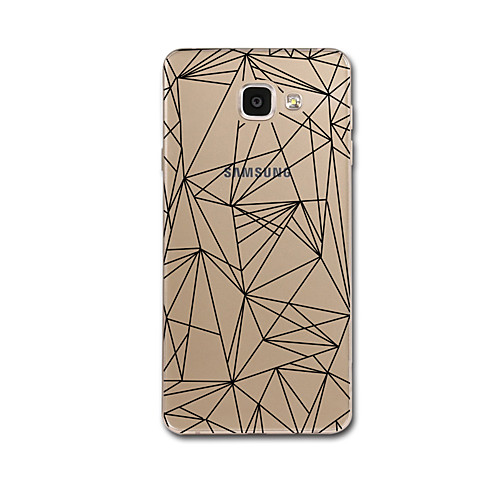Case For Samsung Galaxy A5(2017) / A3(2017) Transparent / Pattern Back Cover Lines / Waves / Geometric Pattern Soft TPU for A3(2017) / A5(2017) / A7(2017)
