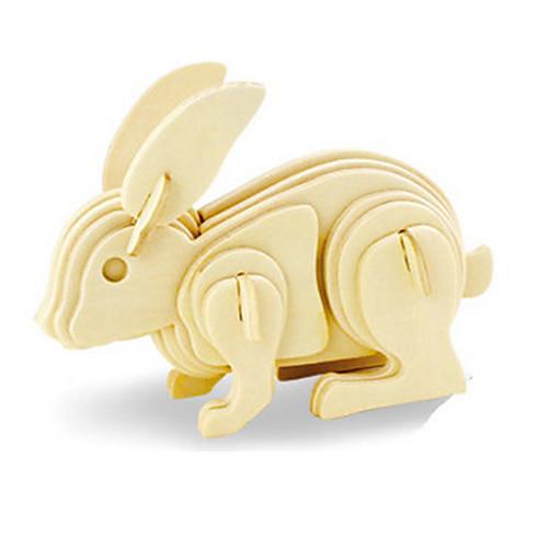 3D пазлы Пазлы Деревянные игрушки Rabbit Динозавр Летательный аппарат Своими руками деревянный Дерево Классика Детские Универсальные