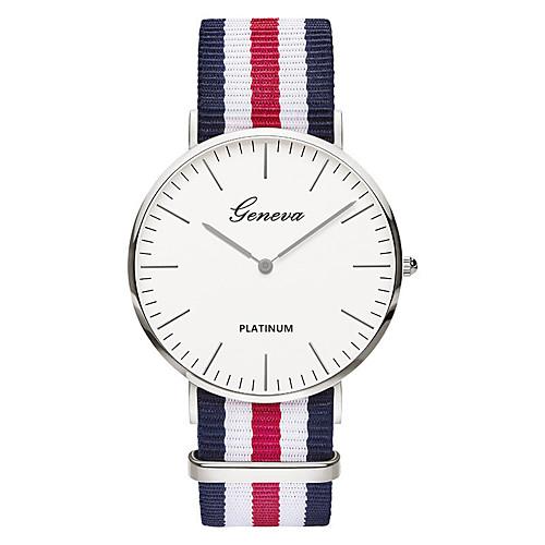 Geneva Men's Wrist Watch Quartz Nylon Black / Brown Analog Ladies Vintage Casual Fashion Elegant - Green Pink White / Red One Year Battery Life / SSUO 377