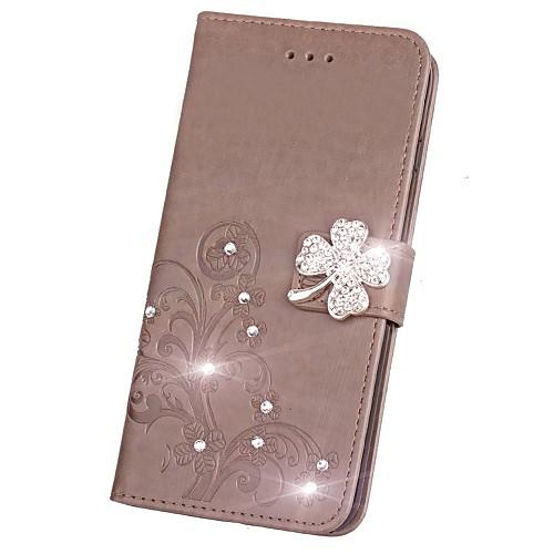 Кейс для Назначение LG G3 LG L70 LG LG K5 LG K10 LG K7 LG G5 LG G4 Бумажник для карт Кошелек Стразы со стендом Флип Магнитный С узором