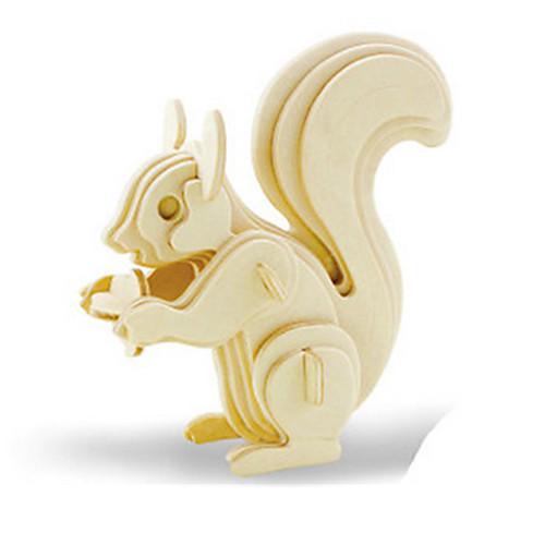 3D пазлы Пазлы Деревянные игрушки Динозавр Летательный аппарат Белка Животный принт 3D Своими руками деревянный Дерево Классика пазлы pilsan пазлы 4x30