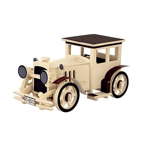 3D пазлы Деревянные пазлы Деревянные игрушки Летательный аппарат Автомобиль 3D Своими руками 3D Дерево Классика Универсальные Подарок 3d пазлы