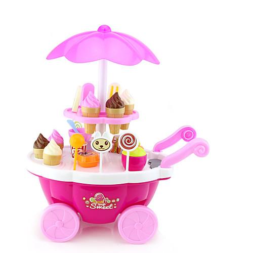 Игрушка для мороженого Игрушечные машинки Игрушечная еда Ролевые игры Корабль Мороженное моделирование Пластик пластик Девочки Детские ролевые игры dolu игрушечная стиральная машинка