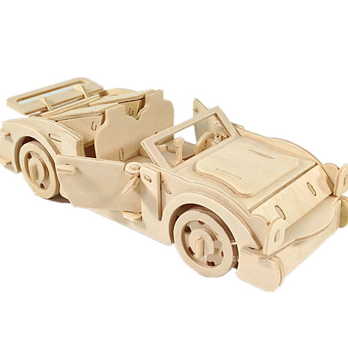 Toy Car 3D Puzzle Jigsaw Puzzle Plane / Aircraft Car DIY Wooden Classic Unisex Boys' Toy Gift
