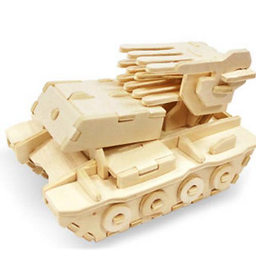3D пазлы Пазлы Деревянные игрушки Динозавр Танк Летательный аппарат Колесница 3D Своими руками деревянный Дерево Классика Универсальные