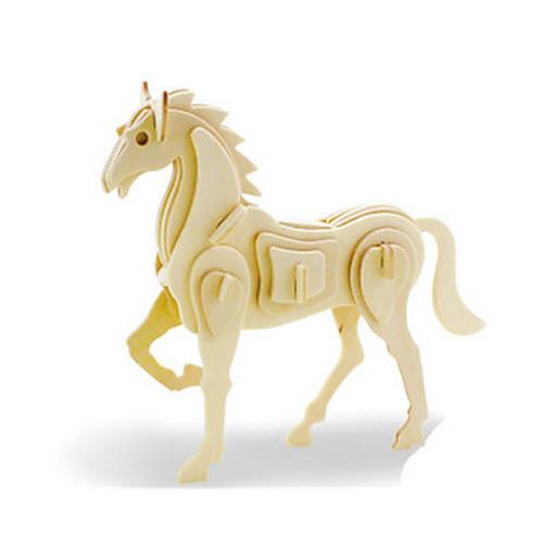3D пазлы Пазлы Деревянные игрушки Динозавр Летательный аппарат Лошадь Животный принт 3D Своими руками деревянный Дерево Классика пазлы pilsan пазлы 4x30