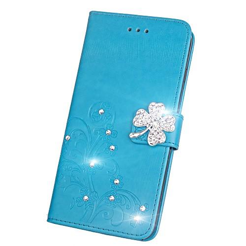 Кейс для Назначение Huawei Honor V9 Honor 7X Стразы Флип Рельефный Чехол Мандала Бабочка Твердый Кожа PU для Honor 9 Honor 8 Huawei Honor honor v9 китайская версия нужно root