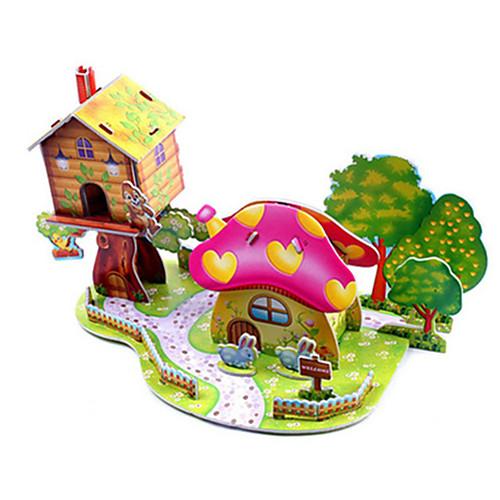 3D пазлы Пазлы Наборы для моделирования Знаменитое здание Лошадь Своими руками Плотная бумага Классика Аниме Мультяшная тематика Детские
