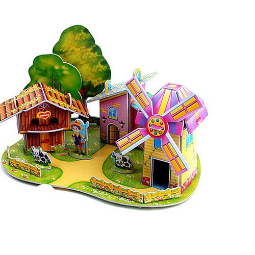 3D пазлы Пазлы Мельницы Летательный аппарат Ветряная мельница Знаменитое здание Лошадь Своими руками Плотная бумага Классика Аниме
