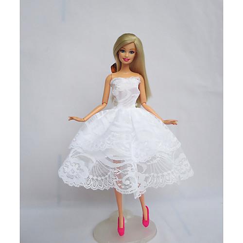 Вечеринка Платья Для Barbiedoll Полиэстер Платье Для Девичий игрушки куклы фото
