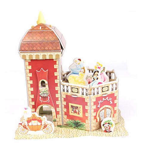 3D пазлы Пазлы Бумажная модель Замок Лошадь Для вечеринок Своими руками Высококачественная бумага Классика Детские Универсальные Мальчики Девочки Игрушки Подарок фото