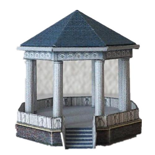 3D пазлы Бумажная модель Оригами Знаменитое здание Своими руками Плотная бумага Классика Детские Универсальные Подарок