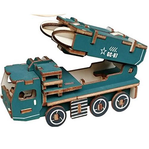 Игрушечные машинки 3D пазлы Пазлы Танк Летательный аппарат Колесница 3D моделирование Своими руками деревянный Классика Универсальные 3d пазлы