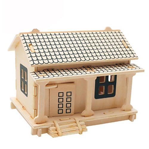 3D пазлы Пазлы Деревянные игрушки Летательный аппарат Знаменитое здание Лошадь Своими руками Картон Дерево Классика Детские Универсальные