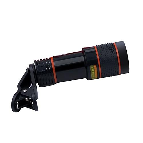 Hd 12x оптический телескоп камеры объектив комплект fisheye широкий угол 12x телескоп универсальный клип оптический зум объектив микро складное 3 кратное зум увеличительное стекло сотовый телефон экран hd усилитель для 3d фильмов