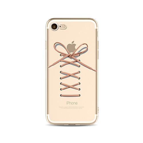 Кейс для Назначение Apple iPhone X iPhone 8 Plus Прозрачный С узором Кейс на заднюю панель Композиция с логотипом Apple Мягкий ТПУ для чехол для для мобильных телефонов cy apple iphone 4 4 g 4s 5 5 g 5s 5c 6 6 for 4 4s 5 5s 5c 6 or 6plus