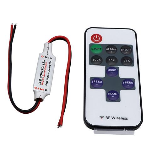 Hkv беспроводной мини-контроллер диммер 11-клавишный пульт дистанционного управления для одноцветных светодиодных ленточных светильников dc 5-24v