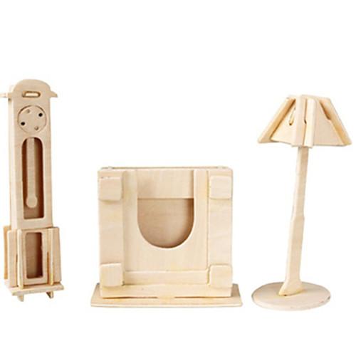 3D пазлы Пазлы Деревянные игрушки Летательный аппарат Знаменитое здание Мебель Архитектура 3D Своими руками Дерево Классика Универсальные