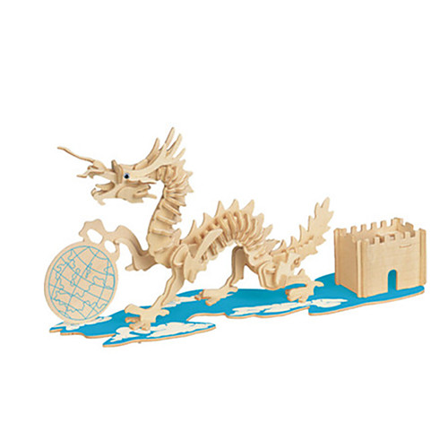 3D пазлы Пазлы Деревянные игрушки Наборы для моделирования Мебель 3D Своими руками Дерево Классика Универсальные Подарок 3d пазлы