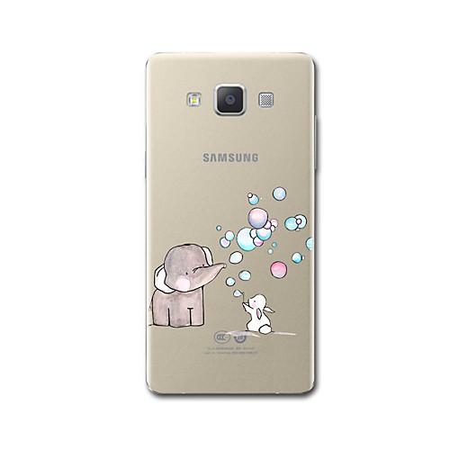Case For Samsung Galaxy A5(2017) / A3(2017) Transparent / Pattern Back Cover Cartoon / Elephant Soft TPU for A3(2017) / A5(2017) / A7(2017)