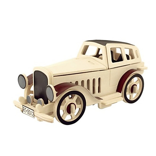 3D пазлы Деревянные пазлы Деревянные игрушки Летательный аппарат Автомобиль Своими руками 3D Дерево Классика Детские Универсальные Подарок 3d пазлы