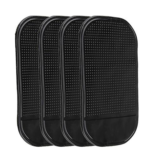 Ziqiao 4шт универсальный автомобильный приборный щиток с противоскользящим ковриком для телефонной клавиатуры gps липкие коврики в держателе автомобильного телефона для телефонов gps key фото