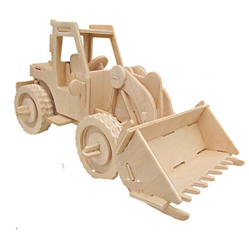 3D пазлы Пазлы Деревянные игрушки Автомобиль моделирование Своими руками Дерево Классика Строительная техника Детские Взрослые пазлы pilsan пазлы 4x30