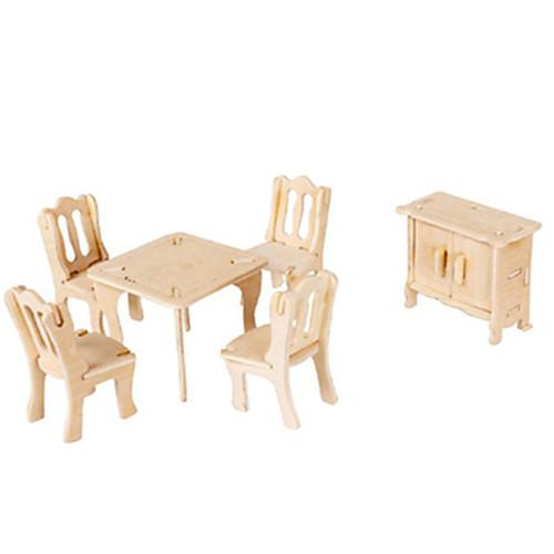 3D пазлы Пазлы Деревянные игрушки Летательный аппарат Знаменитое здание Мебель Архитектура 3D Своими руками Картон Дерево Классика