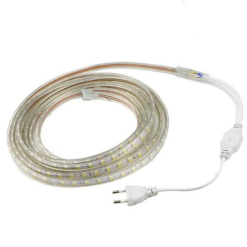 Полоса гибкий свет 1м 5050 светодиодные полосы света водонепроницаемый открытый ip67 60leds / м водонепроницаемый светодиодный свет smd 5050 переменного тока 220 В вилка фото