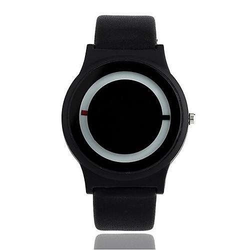 Муж. Жен. Кварцевый Наручные часы Горячая распродажа PU Группа На каждый день Мода Черный Белый