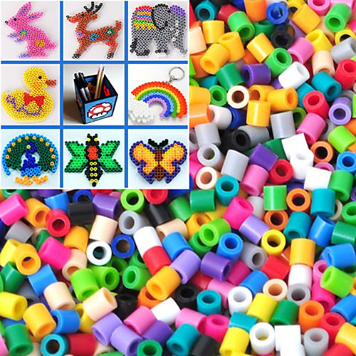 приблизительно 500шт / мешок 5мм смешанный цвет предохранителей шарики Hama шарики DIY головоломки Ева материал Safty для детей (случайный цвет) бижутерия 40 лет влксм
