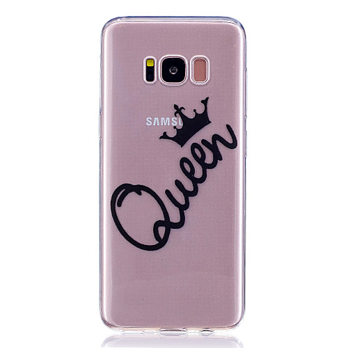 Case For Samsung Galaxy S8 Plus / S8 Transparent / Pattern Back Cover Word / Phrase Soft TPU for S8 Plus / S8 / S7 edge