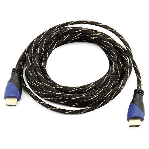 Высокоскоростной HDMI кабель Поддержка 1.4V 3D для смарт-LED HDTV, Apple TV, Blu-Ray DVD (5 м) домашний кинотеатр lg 5 1 bh7520tw 3d hdmi ok