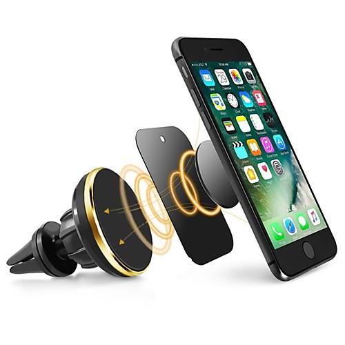 Ziqiao универсальный держатель для мобильного телефона магнитный воздушный вентилятор держатель подставки 360 поворот держатель мобильного телефона для iphone samsung phone фото