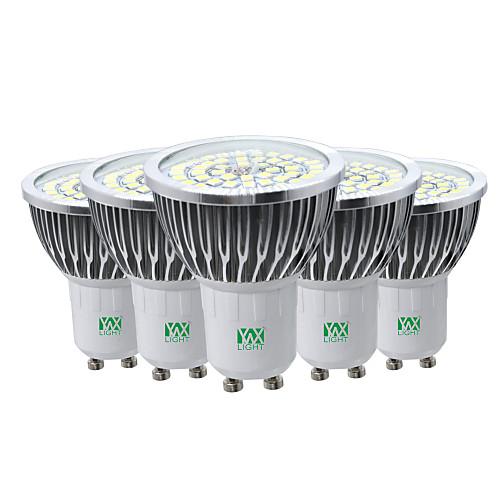 YWXLIGHT 5 шт. 7W 600-700lm GU10 Точечное LED освещение 48 Светодиодные бусины SMD 2835 Декоративная Тёплый белый Холодный белый лампы освещение
