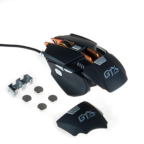 AJAZZ AJAZZ-GTXPRO Проводное Gaming Mouse Регулируемый вес DPI Регулируемая 1000/2000/3000/4000