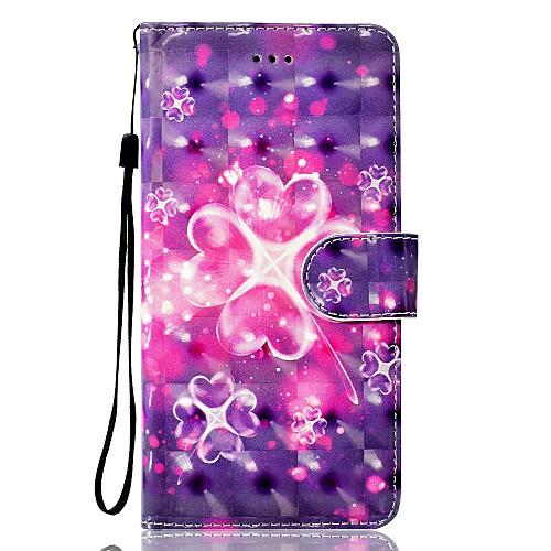 Кейс для Назначение Huawei P9 Lite Huawei Huawei P8 Lite Бумажник для карт Кошелек со стендом Флип Магнитный С узором Чехол С сердцем huawei p8 lite
