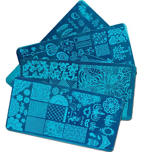 1 pcs Составление Инструменты & Аксессуары / Штамповка плиты / Инструмент для штамповки ногтей шаблон Дизайн ногтей Модный дизайн Стиль / Профессиональный / Высокое качество