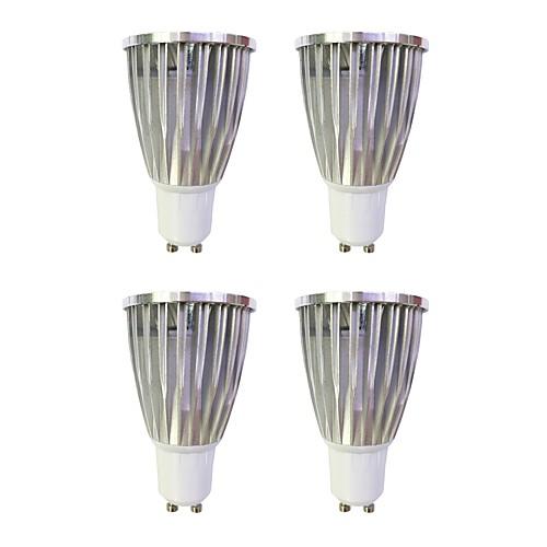 4шт 6W 480lm GU10 Точечное LED освещение MR16 1 Светодиодные бусины COB Диммируемая Тёплый белый Белый 110-120V