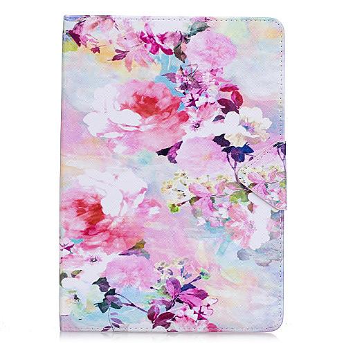 Кейс для Назначение Apple iPad Mini 4 iPad Mini 3/2/1 iPad 4/3/2 iPad Air 2 iPad Air Флип Чехол Цветы Твердый Кожа PU для iPad Mini 4
