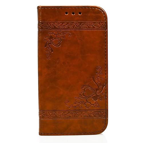 Кейс для Назначение Huawei P9 Huawei P9 Lite Huawei Huawei P8 Lite Бумажник для карт Кошелек со стендом Флип Рельефный Чехол С сердцем huawei p8 lite